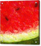 Watermelon With Three Seeds Acrylic Print