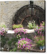 Waterwheel In Bayeux Acrylic Print