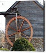 Waterwheel Of Old Acrylic Print