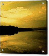 Watery Color Sunset Acrylic Print