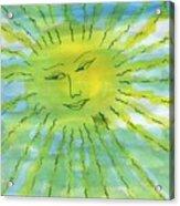 Watery Sunshine Acrylic Print