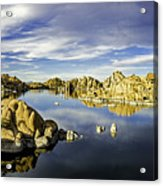 Watson Lake Panoramic 30x12 Acrylic Print