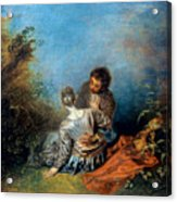 Watteau: False Step, C1717 Acrylic Print