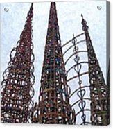Watts Towers 2 - Los Angeles Acrylic Print
