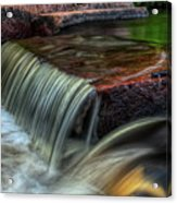 Wausau Whitewater Course Through Granite Acrylic Print