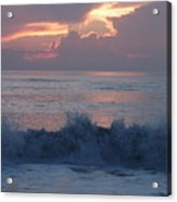 Wave Action At Sunrise Acrylic Print