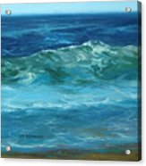 Wave Action Detail Acrylic Print