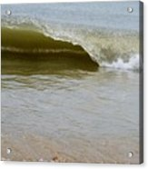 Wave At Sandbridge Virginia Acrylic Print