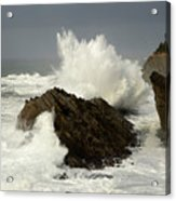 Wave At Shore Acres 2 Acrylic Print