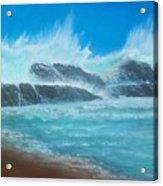 Wave Fury Acrylic Print