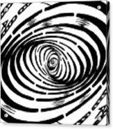 Wave Swirl Maze Acrylic Print