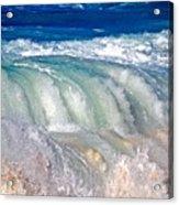 Wave Waterfall, Sunset Beach, Hawai'i Acrylic Print