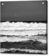 Waves 1 In Bw Acrylic Print