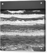 Waves 3 In Bw Acrylic Print