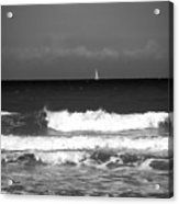 Waves 4 In Bw Acrylic Print