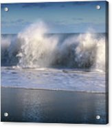 Waves Against The Wind Acrylic Print