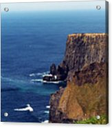 Waves Crashing At Cliffs Of Moher Ireland Acrylic Print