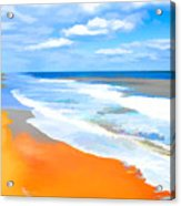 Waves Lapping On Beach 8 Acrylic Print