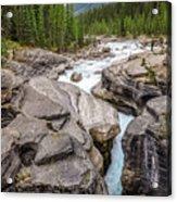 Waves Of ... Granite At Mistaya Canyon, Canada Acrylic Print
