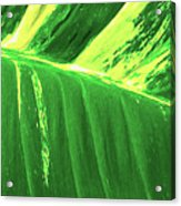 Waves Of Green Acrylic Print