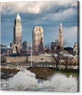 Waves On Cleveland Acrylic Print