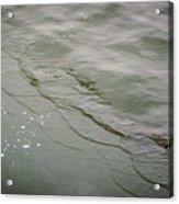 Waves On The Ice Acrylic Print