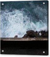 Waves On The Mediterranean Acrylic Print