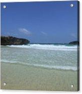Waves Rolling Ashore On The Beach Of Boca Keto Acrylic Print