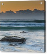 Waves Rolling In At Sunrise Acrylic Print