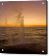 Waves Splash At Dawn Acrylic Print