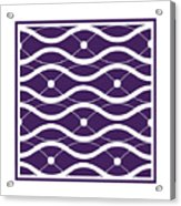 Waves With Border In Purple Acrylic Print