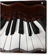 Wavey Piano Keys Acrylic Print