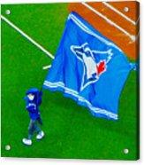 Waving The Flag For The Home Team      The Toronto Blue Jays Acrylic Print