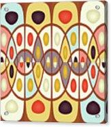 Wavy Geometric Abstract Acrylic Print