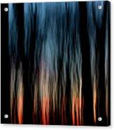 Wavy Sunset Acrylic Print