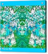 Waxleaf Privet Blooms In Aqua Hue Abstract With Aqua Frame Acrylic Print