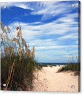 Way Out To The Beach Acrylic Print