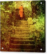 Way To Buddha's Temple Acrylic Print by Justyna Lorenc