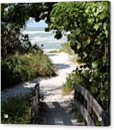 Way To The Beach Acrylic Print