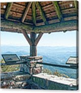 Wayah Bald Observation Tower - Macon County, North Carolina Acrylic Print