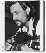Waylon Jennings 1971 Signed Acrylic Print