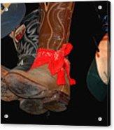 Waylon Jennings Boots Acrylic Print