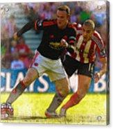 Wayne Rooney Is Marshalled Acrylic Print