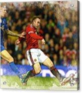 Wayne Rooney Of Manchester United Scores Acrylic Print