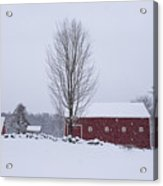 Wayside Inn Grist Mill Covered In Snow Storm 2 Acrylic Print