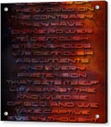 Weapons Acrylic Print