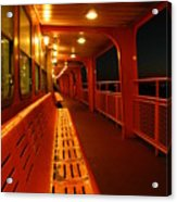 Weather Deck Starboard Side Night Acrylic Print