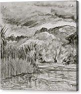 Weather Over Agua Caliente Acrylic Print
