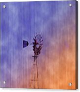 Weather Vane Sunset Acrylic Print