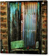 Weatherd Entry Acrylic Print by Perry Webster